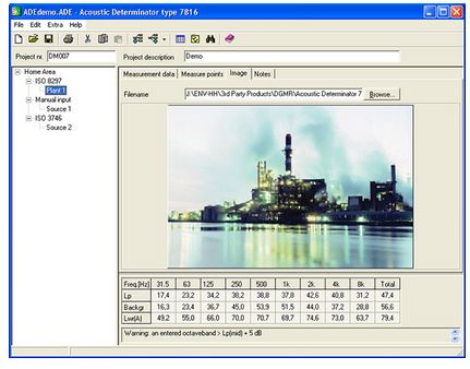 EMS - Sound Power Level Measurement Software – Acoustic Determinator
