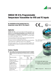 SINEAX VK 616, Programmable Temperature Transmitter for RTD and TC Inputs - Data Sheet