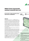 SINEAX VC603 Programmable Combined Transmitter/Alarm Unit - Data Sheet