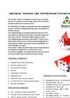 GreenEX - Model A1000 - Powdered Aerosol Fire Extinguisher Brochure