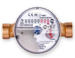 MecTo - Model CD SD Plus EVO - Dry Dial Single Jet Water Meter