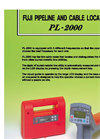 Fuji - Model PL-2000 - Metal Pipe and Cable Locator Brochure