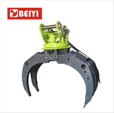 beiyi - Model BYKL 08 - hydraulic stone and wood grapple for 17-23 ton excavator