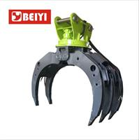 BEIYI - Model BYKL 10 - China Manufacture Clamp BEIYI Excavator Grapple Hydraulic Stone Grab