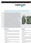 Watergen - Model GEN-40V - Vehicle Atmospheric Water Generation Unit - Brochure