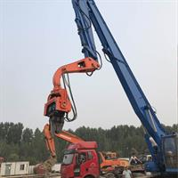 Highway Guardrail Used Hydraulic Drop Hammer Ground Screw Mini Sheet Post Ramming Pile Driver Machine-4