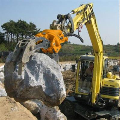 Demolition heavy duty wood grab hydraulic excavator rotating grapple-4