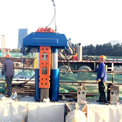 hydraulic pile extractor sheet pile pulling machine-3