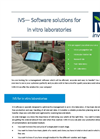 IVS - Software Solutions for in Vitro Laboratories Brochure