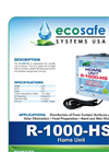 Eco Safe - Model R-1000-HS - Anti-Microbial Ozone Wash-Down System for Home Brochure