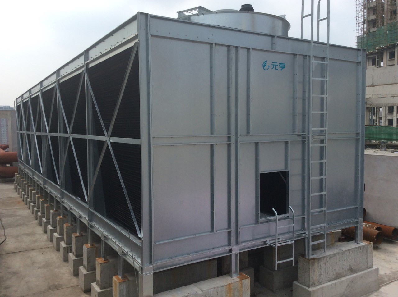 YUANHENG - All-steel Double-side Air Inlet Top Discharge Cross- Flow Cooling Tower