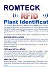 Romteck - Radio Frequency Identification System (RFID) Brochure