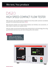 ATEQ - Model D620 - Flow Tester Brochure