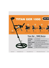 Titan GER - Model 1000 - Underground Gold , Metals and Treasures Detector Brochure