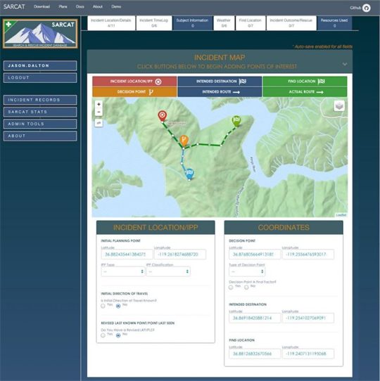 Introducing SARCAT - The open-source Search and Rescue data management system