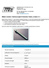 Model Grade LT-1 - Metal-Ceramic Thermocouple Protection Tubes - Datasheet
