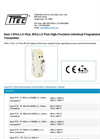 Model IPAQ-LX Plus - High-Precision Universal Programmable 2-Wire Transmitter - Datasheet