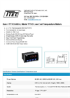 Model TT743-6R0-0 - Low-Cost Temperature Meters - Datasheet