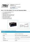 Model TT743-7R0-0 - Low-Cost Temperature Meters - Datasheet