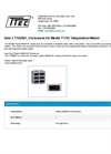 Model TTA2501 - Enclosures for Temperature Meters - Datasheet