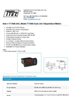 Model TT7000-6R3 - Dual-Line Temperature Meters - Datasheet