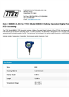 TTEC - Model 8080KCA-AD-12 - Battery Operated Digital Temperature Indicator RTD Assembly - Datasheet