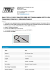Model 5010-J-12-A03, Style 5010 KWIK-BAY - Thermocouples & Resistance Temperature Detectors - Adjustable Bayonet - Datasheet