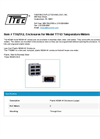 Model TTA2512 - Enclosures for Temperature Meters - Datasheet