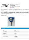Model 8080KNT-AS-2.5 - Battery Operated Digital Temperature Indicator RTD Assembly - Datasheet