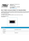 Model TTA2801 - Enclosures for Temperature Meters - Datasheet