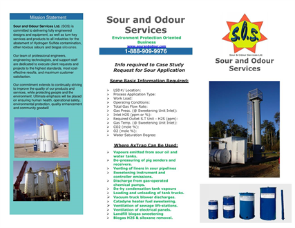 SOUR AND ODOUR SERVICES LTD.