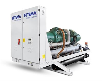 Hitema - Model EWB / CWB Series - Water-Cooled / Condenserless Chillers with Screw Compressors