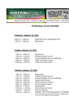 Schedule of Events