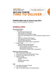 POWER-GEN India and Central Asia 2013 – Call for Paper Topics