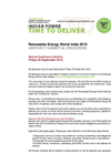 Renwable Energy World Conference & Expo India 2012 – Abstract Submittal Procedure