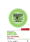 Renwable Energy World Conference & Expo India 2012 – Call for Papers