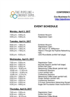 The Pipeline + Energy Expo 2017 - Event Schedule - Datasheet