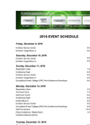 Coal-Gen 2016 - Event Schedule - Datasheet
