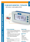 Fluidwell - Model D013 - Flow Rate Monitor / Totalizer with High / Low Alarm Output - Brochure