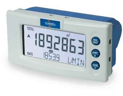 Fluidwell - Model D016 - Flow Rate Indicator / Totalizer with Linearization and Pulse Signal Output