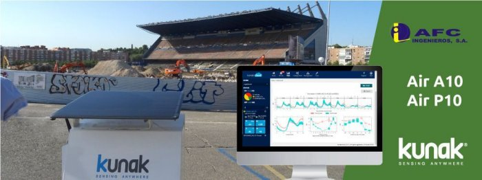 Project - AFC Ingenieros SA - Environmental monitoring in Works and Demolitions: Vicente Calderon Stadium