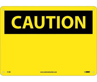 NMC - Bright Yellow Caution Sign