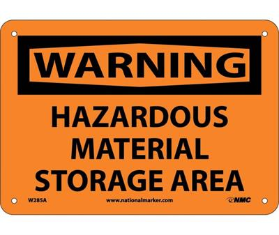 NMC - Warning Hazardous Material Storage Area Sign