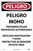 NMC - Model D995 - Danger Microbial Hazard Spanish Paper Sign