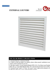Model EXL-061 - External Louver Brochure