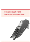 Monoscreen - Model RSM - Self Cleaning Fine Screen- Brochure
