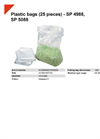 SP 4988, SP 5088 Plastic Bags (25 Pieces) - Datasheet